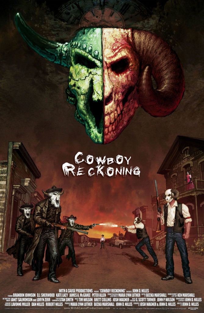 Poster for the Western movie Cowboy Reckoning